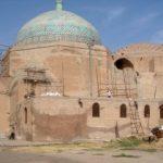 پایان مرحله دوم مرمت و استحکام بخشی گنبدخانه و ایوان شمالی مسجد جامع عتیق